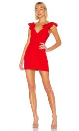 Amanda Uprichard Gimlet Dress in Lipstick from Revolve com at Revolve