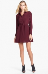 Amanda Uprichard Silk Shirtdress at Nordstrom