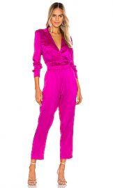 Amanda Uprichard X REVOLVE Felix Jumpsuit in Dark Hot Pink from Revolve com at Revolve