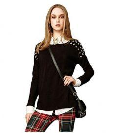 Amazoncom Aeropostale Womens Aria Embellished Knit Sweater Clothing at Amazon