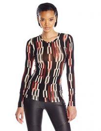 Amazoncom BCBGMAXAZRIA Womenand39s Agda Printed Knit Top Clothing at Amazon