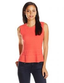Amazoncom BCBGMAXAZRIA Womenand39s Alyona Pointelle Peplum Clothing at Amazon