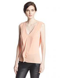 Amazoncom BCBGMAXAZRIA Womenand39s Ellan Sleeveless Top with Ruffle Clothing at Amazon