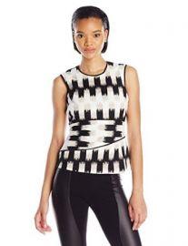 Amazoncom BCBGMAXAZRIA Womenand39s Jolyne Asymmetrical Peplum Top Clothing at Amazon