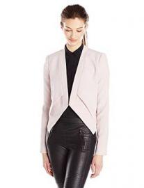 Amazoncom BCBGMAXAZRIA Womenand39s Lloyd Easy Layered Jacket Clothing at Amazon