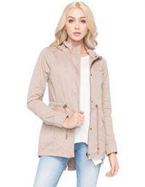 Amazoncom FULL TILT Hooded Twill Womens Anorak Jacket Clothing at Amazon