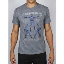 Amazoncom Fantasic Four - Letand39s Stretch Soft T-Shirt Grey Clothing at Amazon