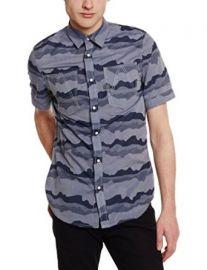 Amazoncom G-Star Raw Menand39s A Crotch Yoshem Shortsleeve Work Shirt In Camo Stripe Clothing at Amazon