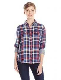 Amazoncom Joeand39s Jeans Womenand39s Piper Plaid Shirt Clothing at Amazon
