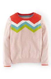 Amazoncom Mini Boden GirlsToddlers Crewneck Sweater Chevron Pink Clothing at Amazon
