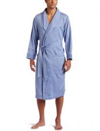 Amazoncom Nautica Menand39s Captains Woven Shawl-Collar Robe Light Robes For Men Clothing at Amazon