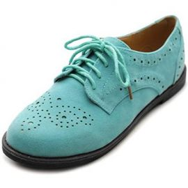 Amazoncom Ollio Womenand39s Lace Up Wing Tip Casual Shoe Dress Low Heel Oxford Clothing at Amazon