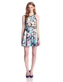 Amazoncom Parker Womenand39s Emmy Fit-and-Flare Dress Clothing at Amazon