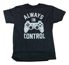 Amazoncom Playstation Controller Always In Control Licensed Graphic T-Shirt Clothing at Amazon