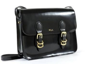 Amazoncom Ralph Lauren Winford Black Patent Leather Crossbody Messenger Bag Shoes at Amazon