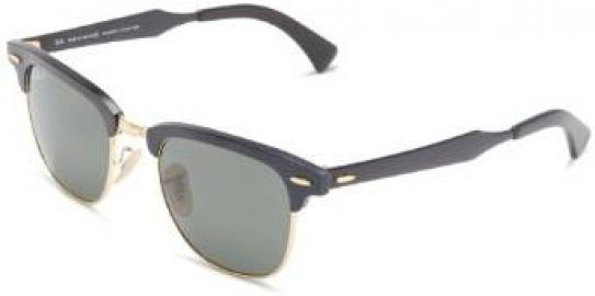 Amazoncom Ray-Ban Clubmaster Aluminum Polarized Square Sunglasses BlackArista andamp Polarized Green 49 mm Ray-Ban Clothing at Amazon