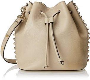 Amazoncom Rebecca Minkoff Unlined Bucket Shoulder Bag Khaki One Size Clothing at Amazon