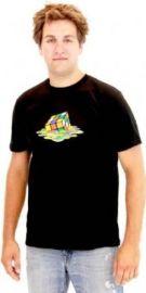 Amazoncom Rubikand39s Cube Melting Sheldon Cooper The Big Bang Theory Black T-shirt Clothing at Amazon