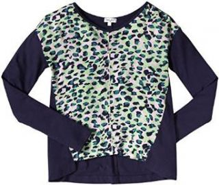 Amazoncom Splendid Leopard Vneck Top Kid Navy Clothing at Amazon