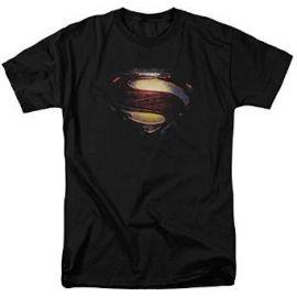 Amazoncom Superman Man of Steel Grungy andquotSandquot Shield T-Shirt 2013 Movie T-Shirt Clothing at Amazon