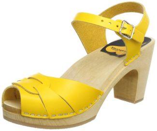 Amazoncom Swedish hasbeens Womenand39s Peep Toe Super High Platform Sandal Shoes in yellow at Amazon