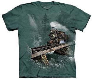 Amazoncom The Mountain Loco 74 Train Adult T-shirt Novelty T Shirts Clothing at Amazon