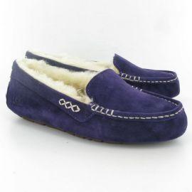 Amazoncom UGG Australia Womenand39s Ansley Exotic Suede Slipper in purple at Amazon