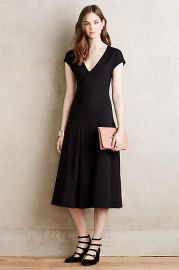Amelia Dress in Black at Anthropologie