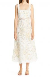 Amelie Floral Broderie Anglaise Midi Sundress at Nordstrom