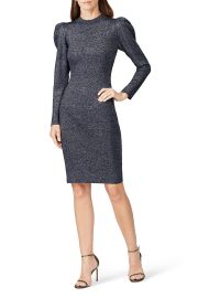 Amelie Metallic Knit Dress at Rent The Runway