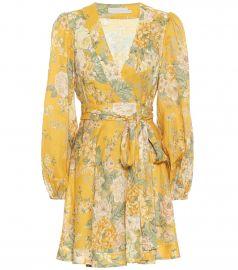 Amelie floral linen minidress at Mytheresa
