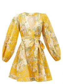 Amelie floral-print linen sun dress at Matches