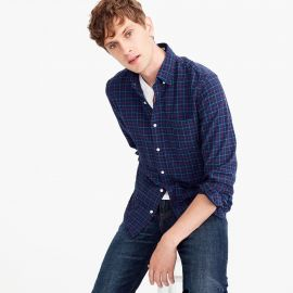 American Pima cotton oxford shirt in tattersall at J. Crew