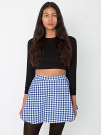 American Apparel Gingham Corduroy Circle Skirt at American Apparel