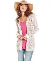 American Rag Long-Sleeve Marled-Knit Cardigan - Juniors Sweaters - Macys at Macys