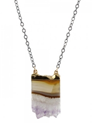 Amethyst Stalactite Necklace at Peggy Li