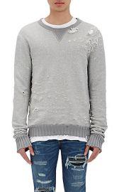 Amiri Distressed Shotgun Sweatshirt at Barneys