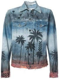 Amiri Palm Denim Trucker Jacket at Farfetch