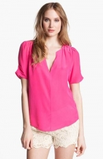 Amone blouse by Joie in Bright Fuchsia at Nordstrom