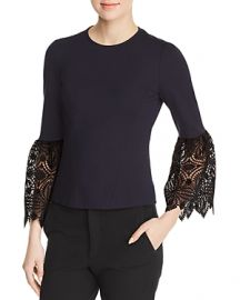 Amora Lace Cuff Blouse by Elie Tahari at Bloomingdales