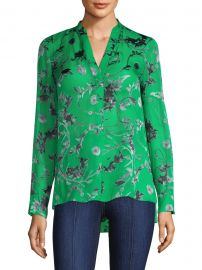 Amos Floral Print Silk Tunic at Saks Fifth Avenue