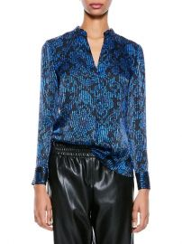 Amos Printed Textured Top by Alice + Olivia at Saks Fifth Avenue