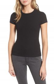 Amour Vert Diana Ribbed Tee at Nordstrom