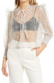 Amy Lynn Lavenham Sheer Lace Shirt   Nordstrom at Nordstrom