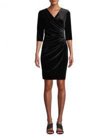 Anatomie Marine Velvet Wrap Dress at Neiman Marcus