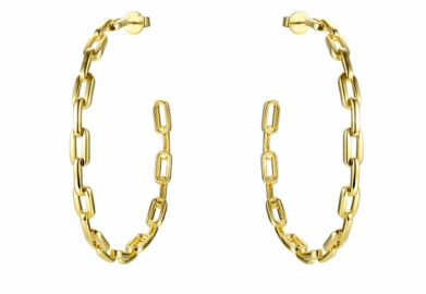 Anchor Chain Hoops by Accessory Concierge at Accessory Concierge