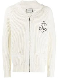 Anchor-patch zipped sweatshirt at Farfetch