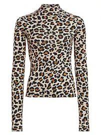 Andamane - Beth Leopard-Print Turtleneck Top at Saks Fifth Avenue