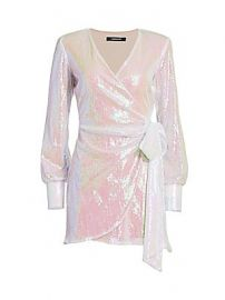 Andamane - Carly Sequin Mini Wrap Dress at Saks Fifth Avenue