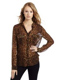Anderson Leopard Blouse With Cargo Pockets by Bcbgmaxazria at Amazon